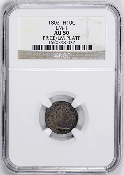 Picture of 1802 DRAPED BUST H10C, LARGE EAGLE AU50