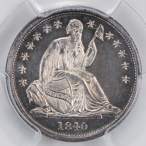 Picture of 1840 LIBERTY SEATED 10C, NO DRAPERY PR65+ Cameo