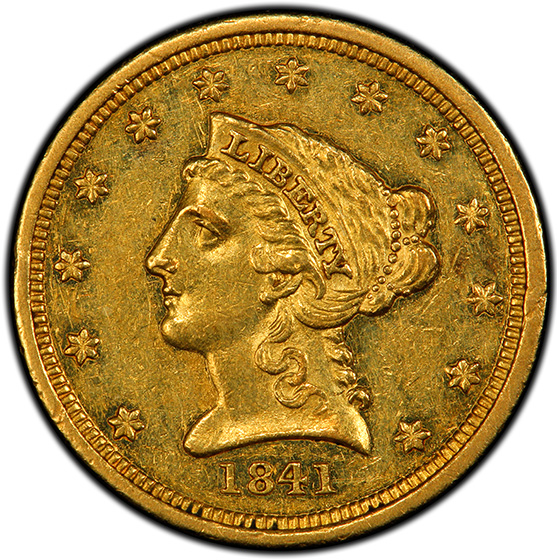 Picture of 1841 LIBERTY $2 1/2 AU58
