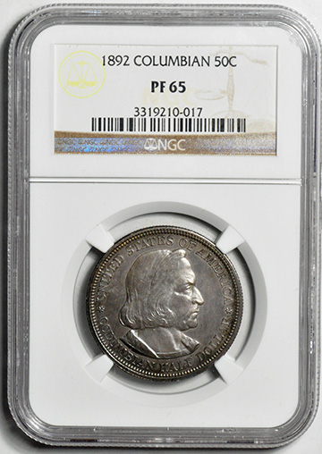 Picture of 1892 COLUMBIAN 50C PR65