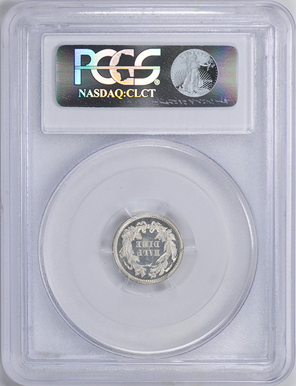 Picture of 1862 LIBERTY SEATED H10C, LEGEND PR67 Cameo