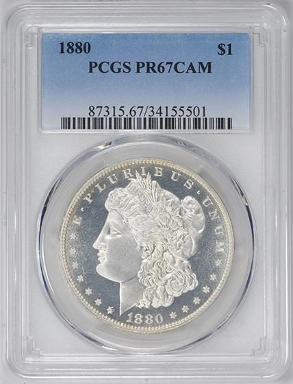 Picture of 1880 MORGAN $1 PR67 Cameo