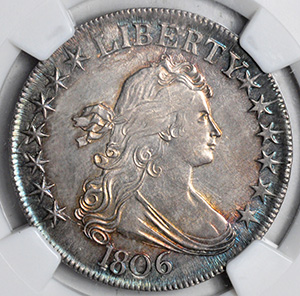 Picture of 1806 DRAPED BUST 50C MS64+