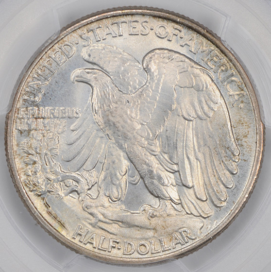 Picture of 1945 WALKING LIBERTY 50C MS67