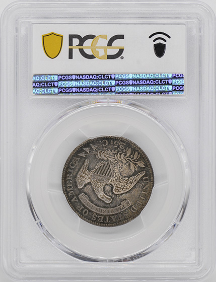 Picture of 1827/3 CAPPED BUST 25C, RESTRIKE, LARGE SIZE PR66