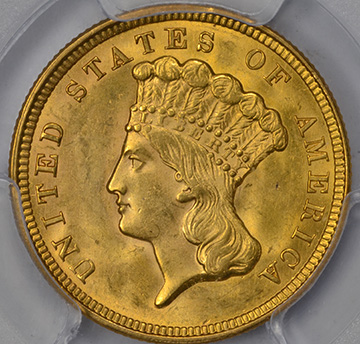 Picture of 1856 INDIAN PRINCESS $3 MS64