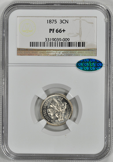 Picture of 1875 NICKEL 3CN PR66+