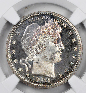 Picture of 1901 BARBER 25C PR68