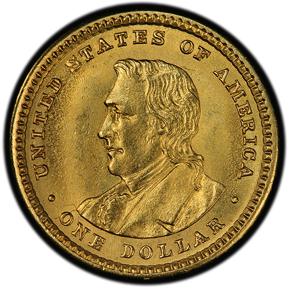 Picture of 1905 GOLD G$1, LEWIS AND CLARK MS65