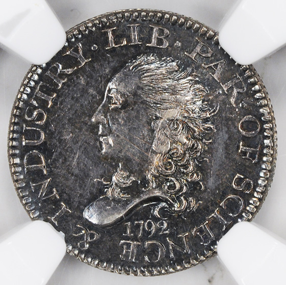 Picture of 1792 BUST DISME H10C MS65