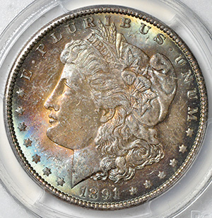 Picture of 1891 MORGAN S$1 MS65