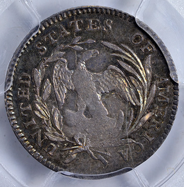 Picture of 1796/5 DRAPED BUST H10C, SMALL EAGLE MS63