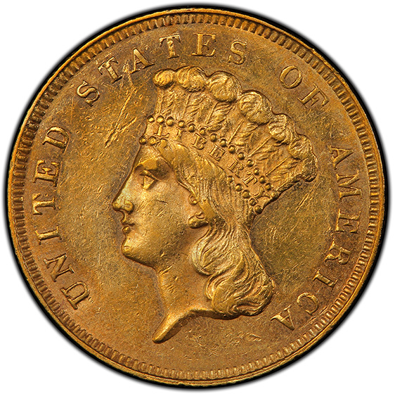 Picture of 1866 INDIAN PRINCESS $3 MS61