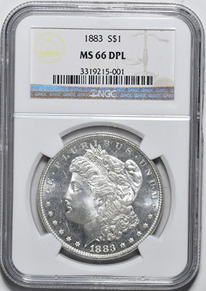 Picture of 1883 MORGAN S$1 MS66 Deep Mirror