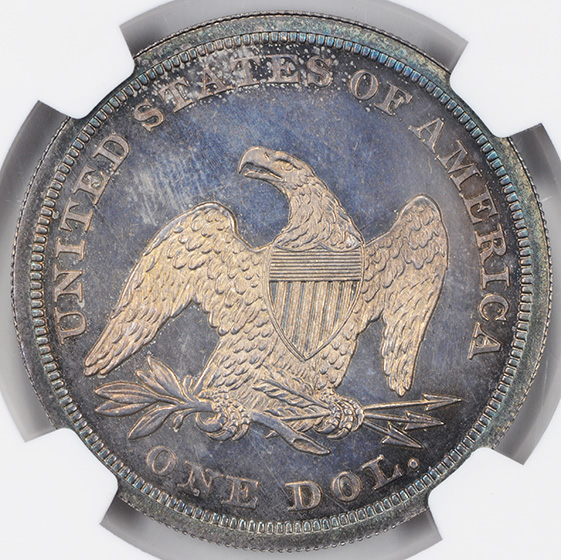 Picture of 1852 LIBERTY SEATED S$1, ORIGINAL PR65+ Cameo