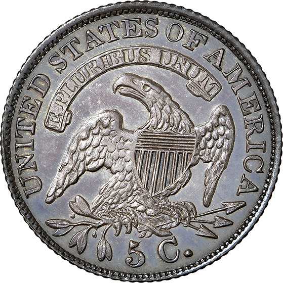 Picture of 1834 CAPPED BUST H10C PR66+