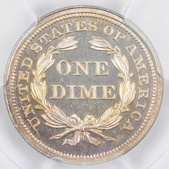 Picture of 1859 LIBERTY SEATED 10C PR67 Cameo
