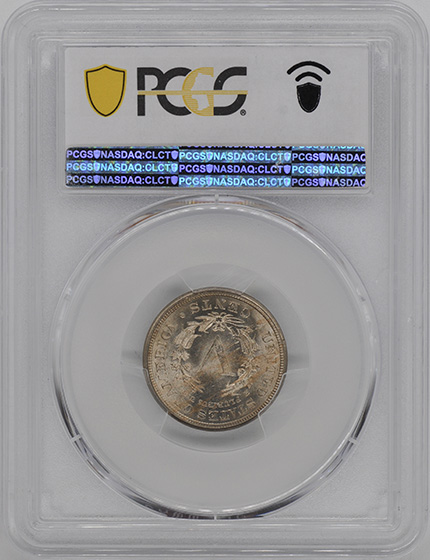 Picture of 1885 LIBERTY HEAD 5C MS64
