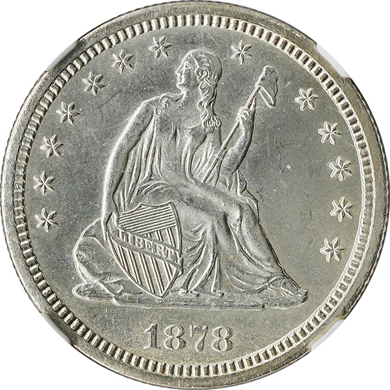 Picture of 1878-S LIBERTY SEATED 25C, MOTTO MS65
