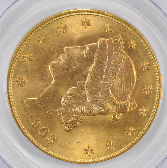 Picture of 1903-S LIBERTY $20 MS65