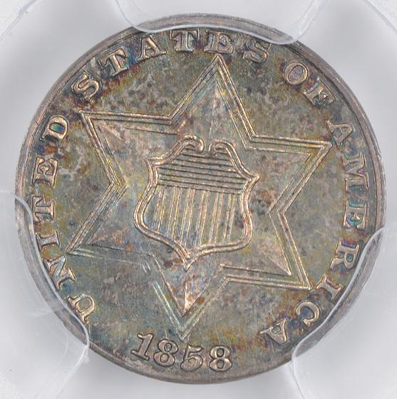 Picture of 1858 SILVER 3CS PR66