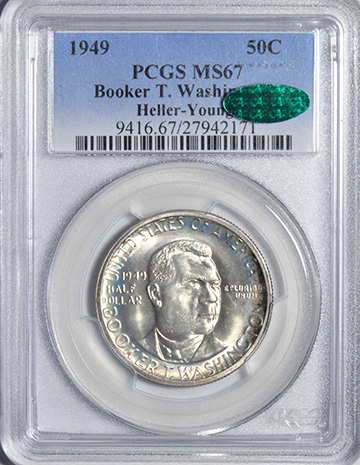 Picture of 1949 BTW SILVER 50C MS67