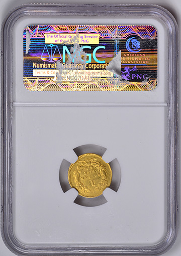Picture of 1855-C GOLD G$1, TYPE 2 AU58