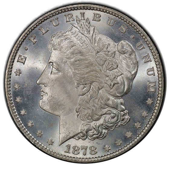 Picture of 1878 7TF MORGAN S$1, REVERSE OF 1879 MS66