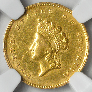 Picture of 1855-D GOLD G$1 58+