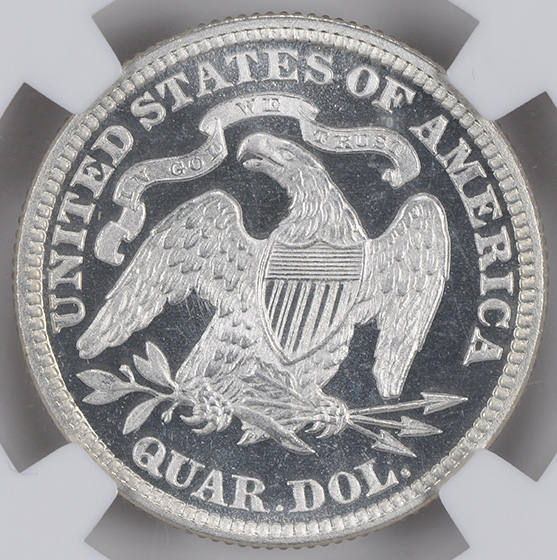 Picture of 1881 LIBERTY SEATED 25C, MOTTO PR68 Cameo