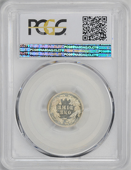 Picture of 1885 LIBERTY SEATED 10C, LEGEND PR66 Cameo