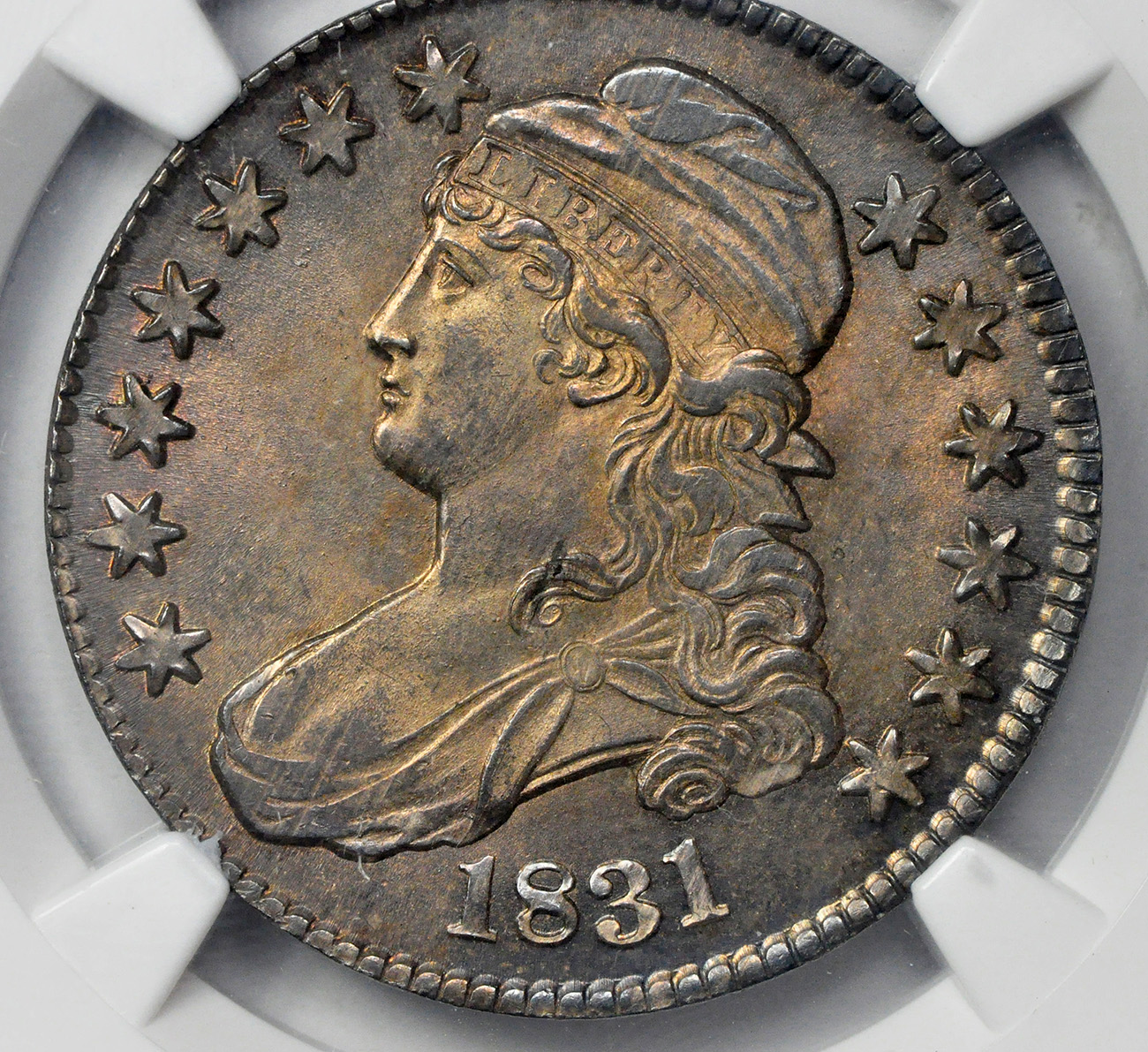1831 Capped Bust 50c Ngc Ms 65