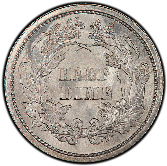 Picture of 1860 LIBERTY SEATED H10C, LEGEND MS68