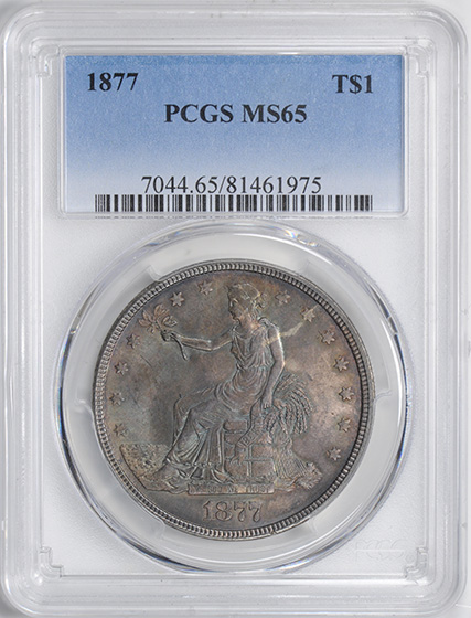Picture of 1877 TRADE T$1 MS65