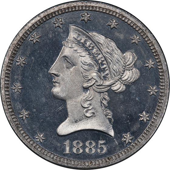 Picture of 1885 $10 J-1755 PR66