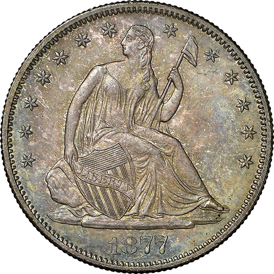 Picture of 1877-S LIBERTY SEATED 50C, MOTTO MS66