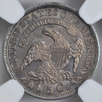 Picture of 1836 CAPPED BUST H10C, 3/INVERTED 3 MS65