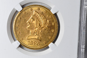 Picture of 1886-S LIBERTY $10 MS64+