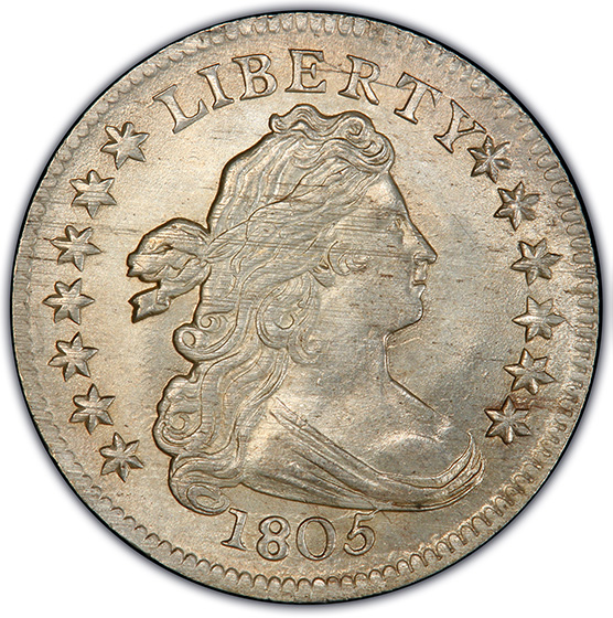 Picture of 1805 DRAPED BUST 10C, 4 BERRIES, LARGE EAGLE MS66