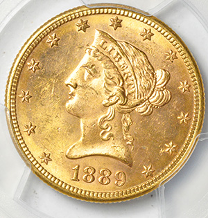 Picture of 1889-S LIBERTY $10 MS64+
