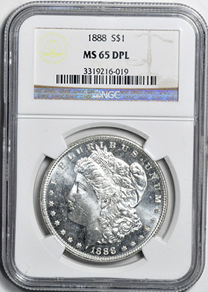 Picture of 1888 MORGAN $1 MS65 DMPL