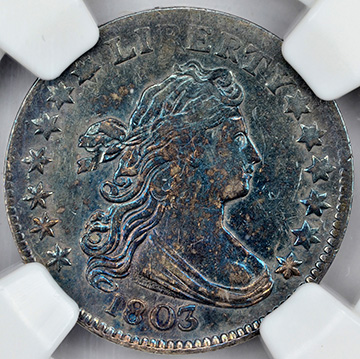 Picture of 1803 DRAPED BUST 10C, LARGE EAGLE MS61