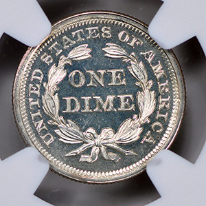 Picture of 1859 LIBERTY SEATED 10C, DRAPERY PR66 Cameo