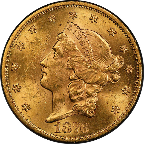 Picture of 1876-S LIBERTY $20 MS63