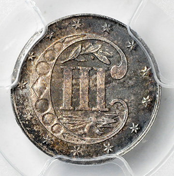 Picture of 1870 SILVER 3CS, TYPE 3 MS66