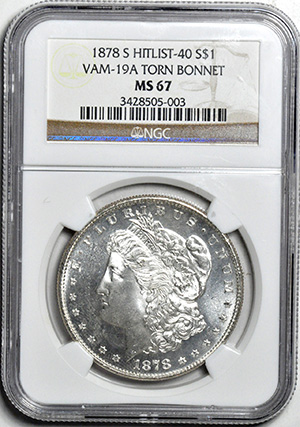 Picture of 1878-S MORGAN S$1 MS67
