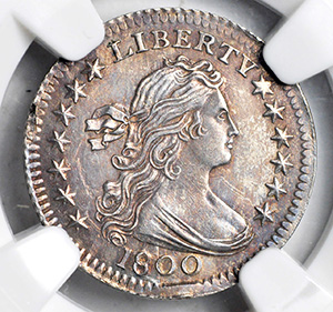 Picture of 1800 DRAPED BUST H10C, LARGE EAGLE MS64