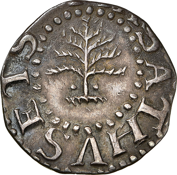 Picture of 1652 PINE TREE 3 PENCE, PELLETS MS63