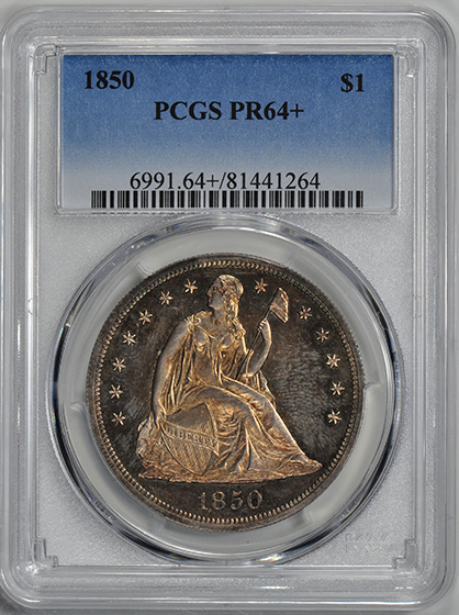 Picture of 1850 LIBERTY SEATED S$1 PR64+