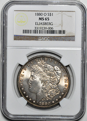 Picture of 1880-O MORGAN S$1 MS65